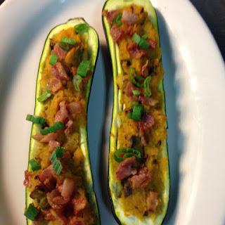 Butternut Squash Stuffed Zucchini