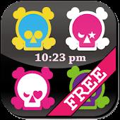 [Free]Skull Flow! Custom Clock