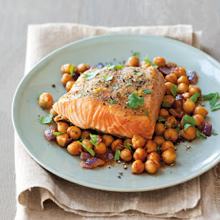Grilled Salmon with Charmoula Chickpeas Recipe