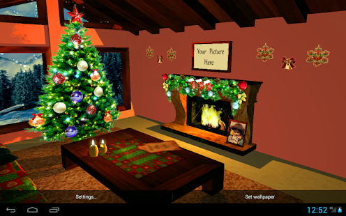 3D Christmas Fireplace HD Live Wallpaper Full Screenshot