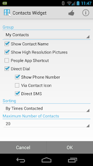 Contactos Widget Pro Gratis