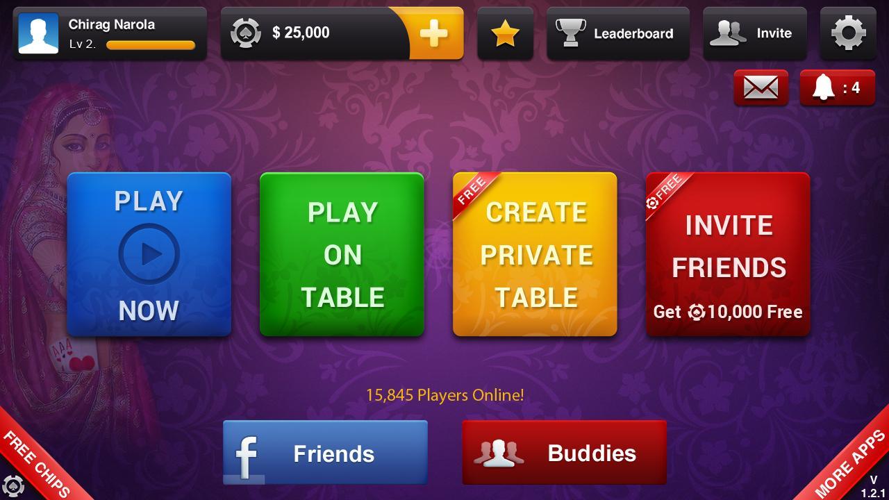 3 card poker app college online games