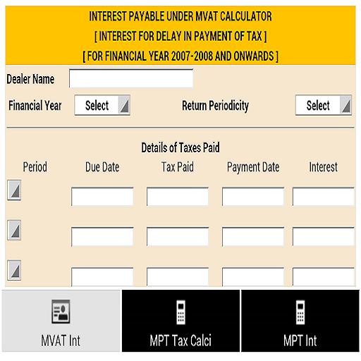 MVAT and MPT Calculators