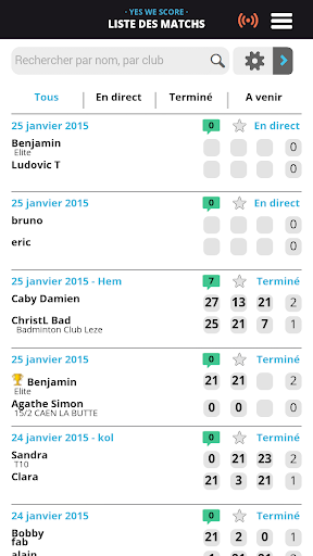 YesWeScore Badminton