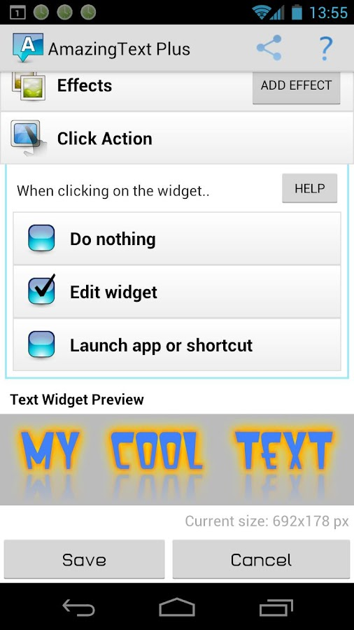 AmazingText FREE - Text Widget - screenshot