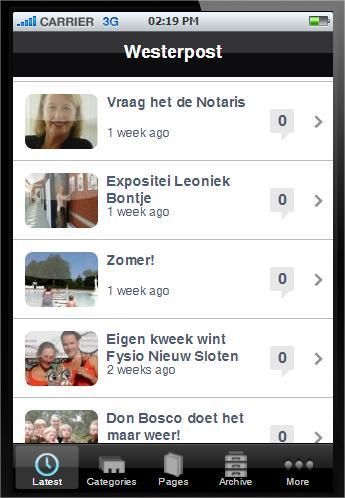 Westerpost - screenshot