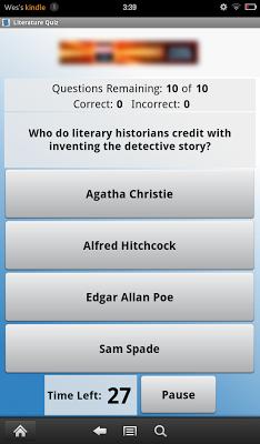 Literature Quiz - screenshot
