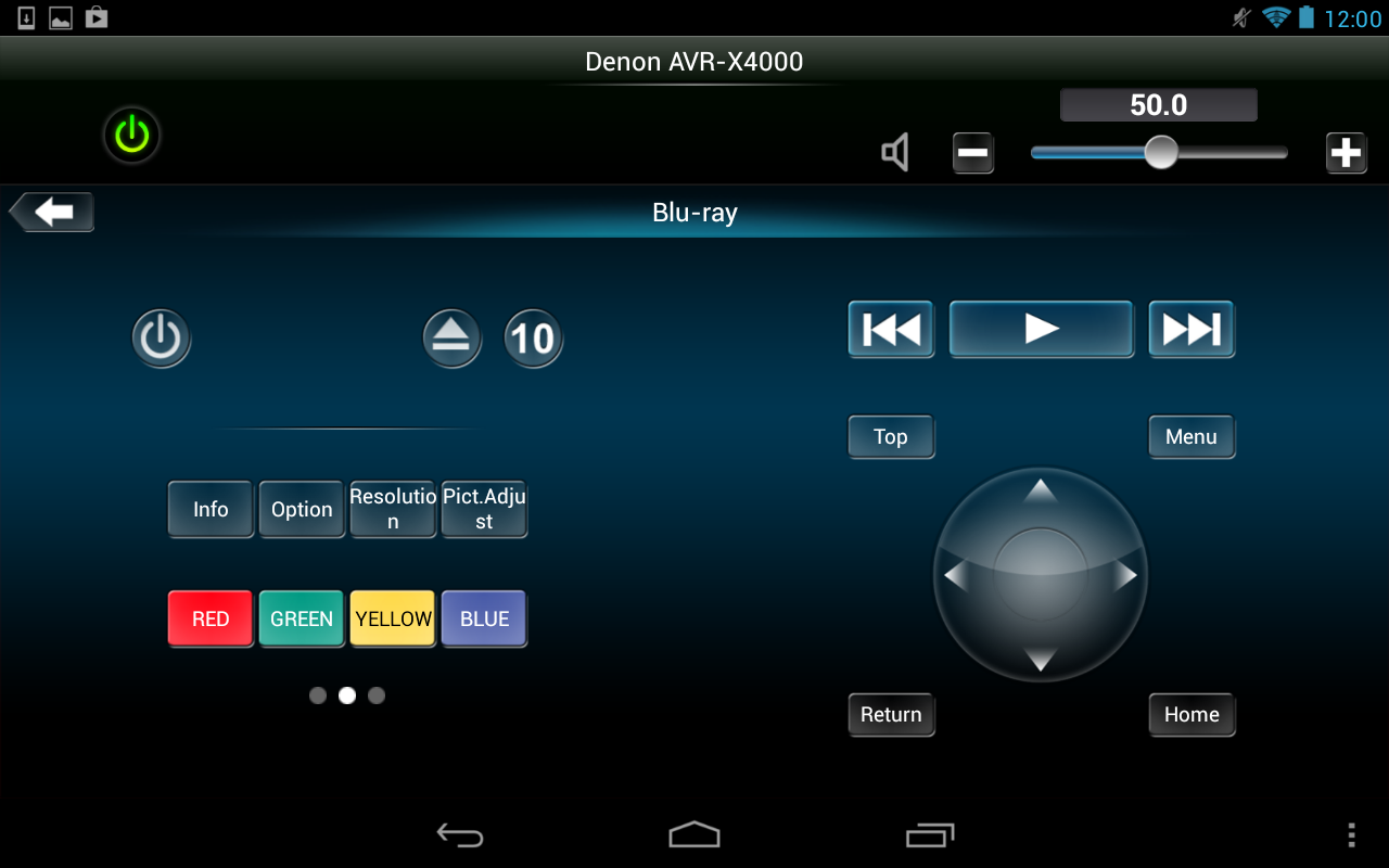 Denon Remote App- screenshot