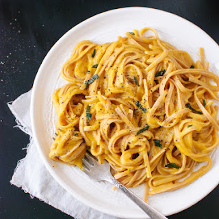 Creamy (vegan!) Butternut Squash Linguine with Fried Sage