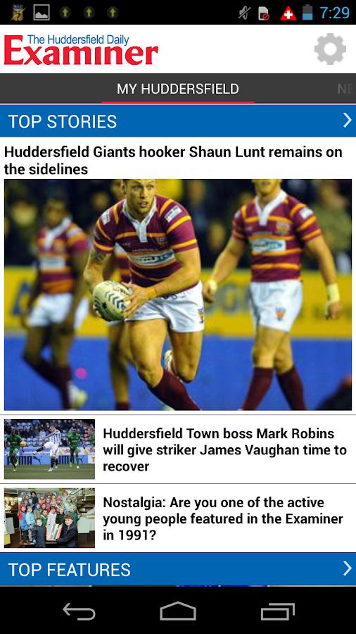 Huddersfield Examiner - screenshot