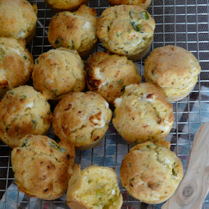 Small Crispy Polenta Cakes with Goat Meat and Mint