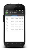 Screenshot of Worktime - Automatic Timesheet