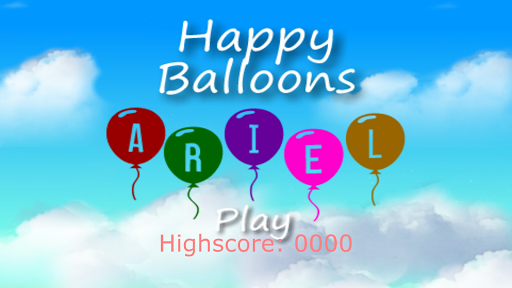 Happy Balloons Ariel