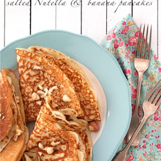 Salted Nutella and Banana Pancakes