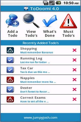 To Do List App - ToDoomi 4.0