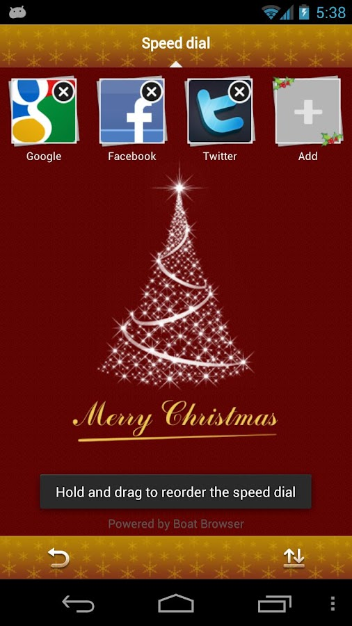 Christmas Boat Browser Theme- screenshot