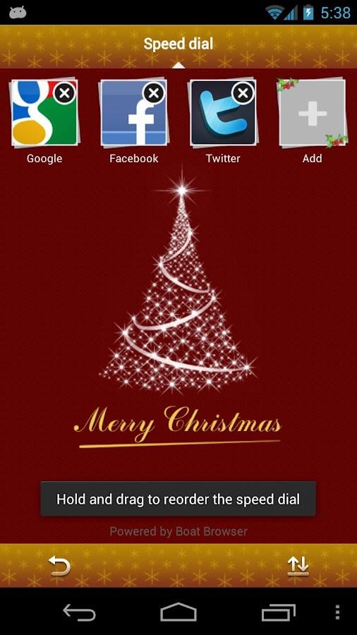 Christmas Boat Browser Theme - screenshot