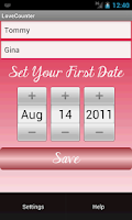Screenshot of The Love Counter Widget