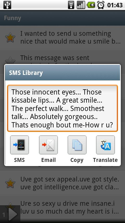 SMS Library Pro Key - screenshot