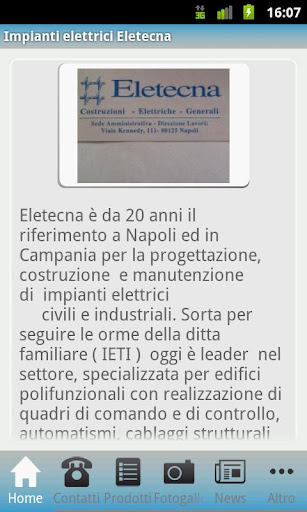 Impianti elettrici Eletecna