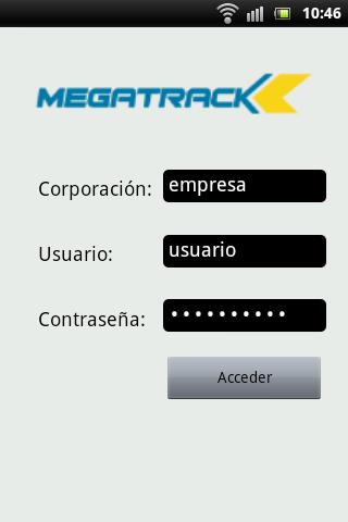 Megatrack- screenshot