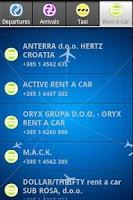 Screenshot of Zagreb Airport