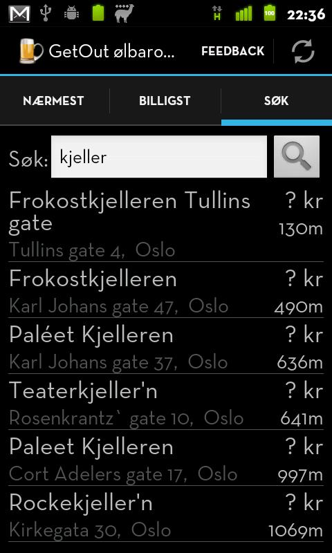 GetOut ølbarometer- screenshot