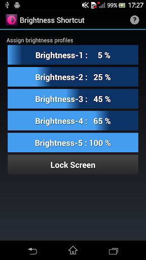 Brightness Shortcut Free