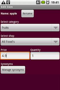 Shopping Manager - screenshot thumbnail