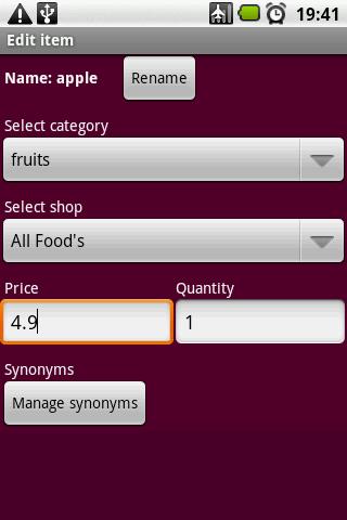 Shopping Manager - screenshot