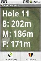 Screenshot of PBGC Golf Guide