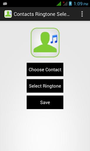 Contacts Ringtone Selector