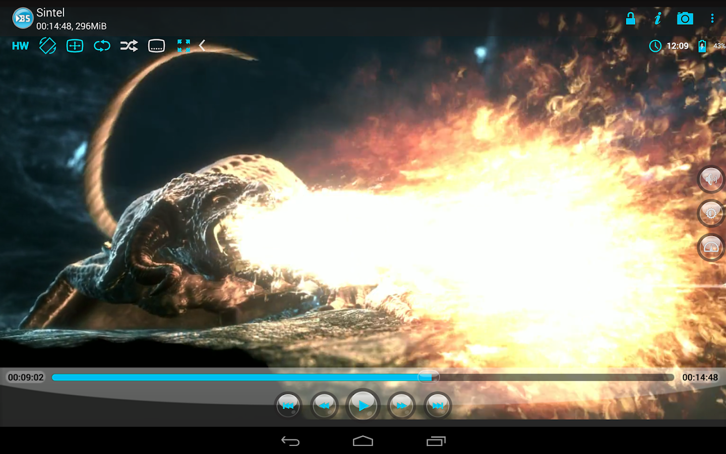 BSPlayer FREE: captura de pantalla
