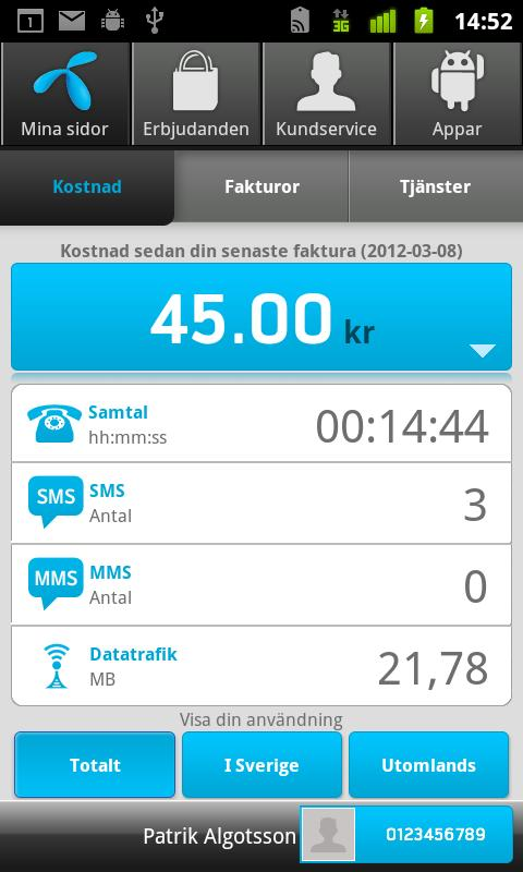 Telenor - screenshot