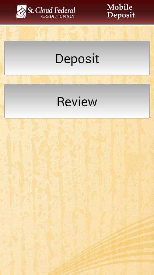 SCFCU Mobile Deposit™ - screenshot