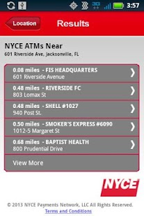 NYCE ATM Locator - screenshot thumbnail
