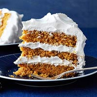 Triple-Layer Carrot Cake with Fluffy Vanilla Frosting.