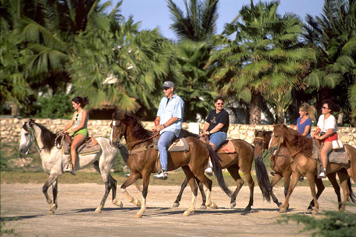 horseback-riding-in-Aruba - Horseback riding is available at several spots on Aruba.