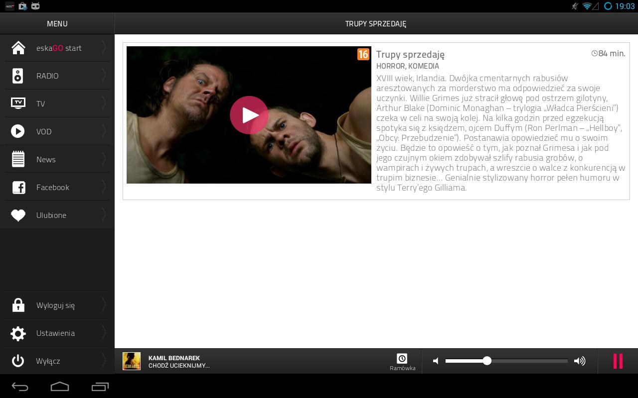 eskaGO - radio | tv | vod - screenshot