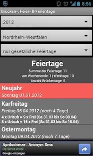 Brücken-, Feier- & Ferientage - screenshot thumbnail
