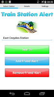 Screenshot of Train Station Alert