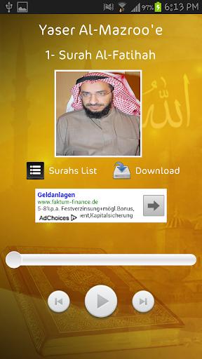 Yaser Al-Mazroo'e - Holy Quran