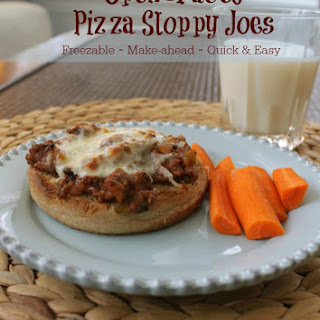 Simple Open-Faced Pizza Sloppy Joes (Make-ahead too!)
