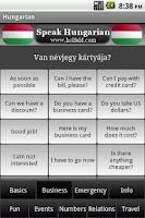 Screenshot of Speak Hungarian