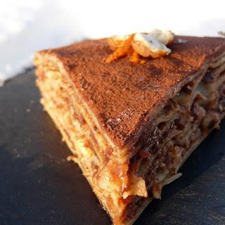 Chocolate-Hazelnut Crepe Cake.