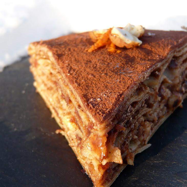 Chocolate-Hazelnut Crepe Cake