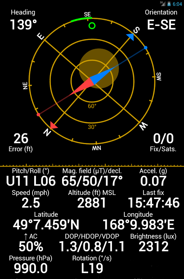 GPS Status PRO - (legacy key)- screenshot