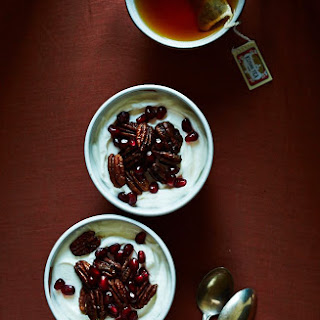 Spiced Candied Pecans & Pomegranate Yogurt Cups
