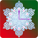 Crystal Snow Clock
