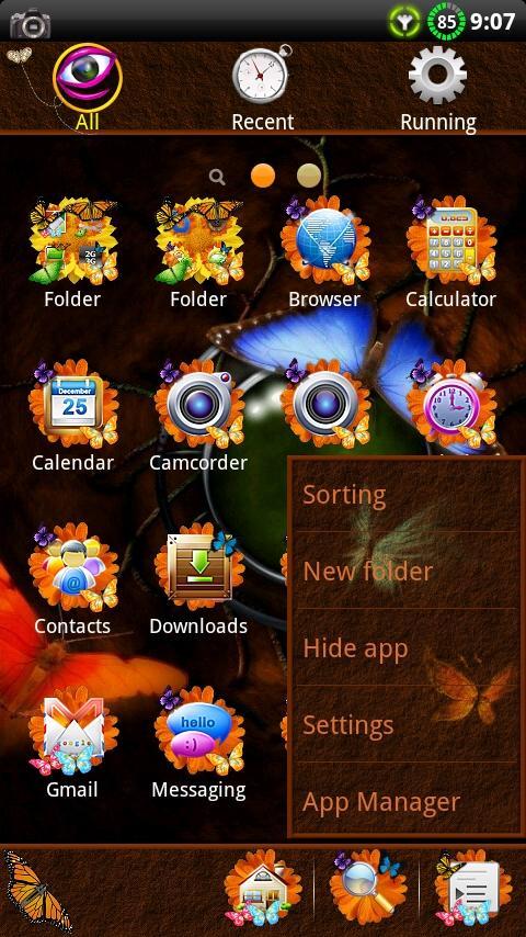 Butterfly GO Launcher EX Theme- screenshot